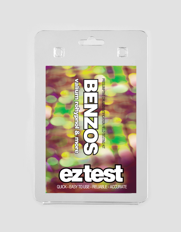 EZ Test Blister for Benzodiazepines, Valium, Rohypnol and more